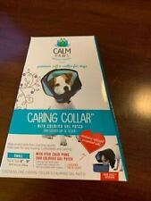 """Calm Paws Caring Collar w/ Calming Gel Patch Small Neck 8""""-11"""" ~ New In Box ~"""