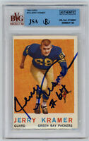 1959 PACKERS Jerry Kramer signed ROOKIE card Topps #116 JSA Beckett Slab AUTO RC