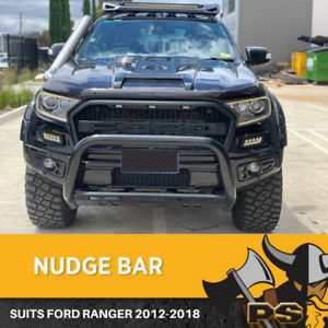 Black Nudge Bar Suitable for Ford Ranger PX PX2 2012-2020 Tech Pack
