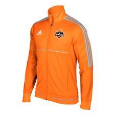 Houston Dynamo MLS Adidas Men's Sideline Orange Full-Zip Anthem Track Jacket