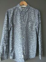 WOODWOOD SHIRT (S) BLUE CAMOUFLAGE PRINT COTTON LONG-SLEEVE S/CUFFS WOOD WOOD -