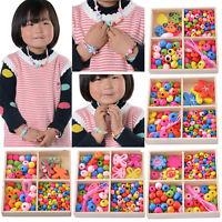 1Box Kids Creative Craft Girls Boys Children Friendship Beads Jewelry Making Kit