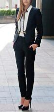 Black Women Ladies Custom Made Office Business Suits Work Wear Tuxedos Bespoke