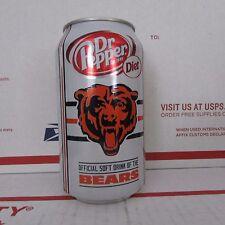 Diet Dr Pepper Chicago Bears 2013 NFL Football empty aluminum soda pop can 12oz