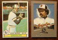LOT OF 2 EDDIE MURRAY Baltimore Orioles Serial-num. Insert 2nd Yr. 1979 #630 HOF