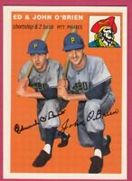1954 Topps Archives #139 Ed & John O'Brien - Pittsburgh Pirates