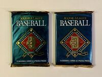 1992 Donruss Major League Baseball Series 1 Puzzle & Trading Cards - 2 Pack LOT