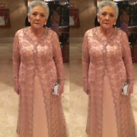 Mother Of The Bride Dresses Suits Outfits Lace Jacket Sequin Beaded Formal Gowns