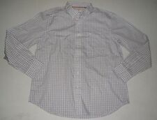 Mens DOCKERS Shirt Button Front Long Sleeve Modern Classic No Wrinkle Size M