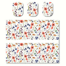 2 Sheets Nail Art Water Transfer Decal Manicure Sticker Colorful Flowers Pattern