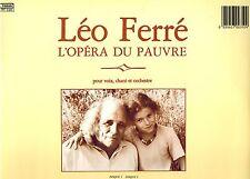 MFD IN FRANCE 1983 GATEFOLD 4 LP SET LEO FERRE : L'OPERA DU PAUVRE POUR VOIX ...