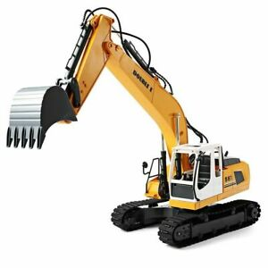 DOUBLE E 1/16 Scale Digger, Remote Controlled Construction Truck RC Excavator