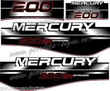 Le Mercure 200 EFI moteur hors-bord moteur Kit De Autocollant Stickers
