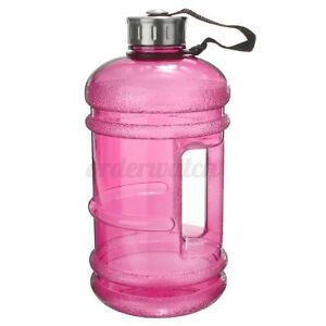 2X 2.2L Large Big Sports Training Gym Water Drinking Bottle Camping Cap Kettle