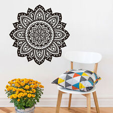 Namaste Yoga Symbol Decals For GYM Muslim Flower Indian Mandala Wall Stickers