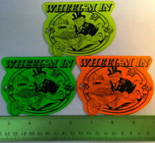3-BROMLEY WHEEL M' IN REDEMPTION GAME Promotional Plastics RARE NOS NEW Coin D22