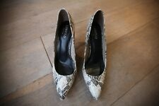 M&S WOMEN MARKS AND SPENCER SNAKE PRINT LEATHER SHOES -SIZE 6 UK  *EXCELLENT CON