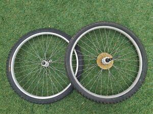 "Made in Japan ARAYA Vintage 26"" MTB WHEELSET w/ Shimano Acera Hubs, CST tyres"