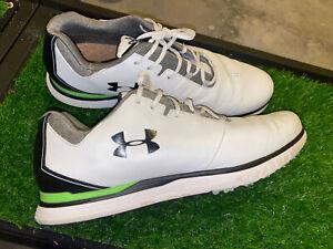 Under Armour Men's Showdown Spieth SL White/Black/Green Golf Shoes US Size 13