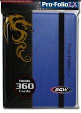 (3) BCW PF9LX-BLU Blue Pro-Folio LX Leatherette Gaming Trading Card Binder CCG