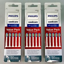 3 Philips Sonicare C1 Simply Clean 15 Brush Heads SEALED HX6015/03 AUTHENTIC