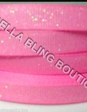 1 METRO de cinta de Grogrén sólido Brillo Rosa 9mm