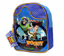 """Backpack 11"""" Toy Story Buzz Woody & the Gang Blue Org New"""