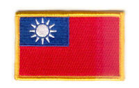 TAIWAN FLAG PATCH PATCHES BADGE IRON ON NEW EMBROIDERED