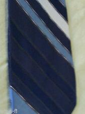 Tie  New Designer Collection By Regal Neck Tie Blue Silver Stripes Vintage