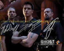 GHOST ADVENTURES CREW CAST AUTOGRAPHED 8x10 RP PHOTO ALL 3 AARON ZAK NICK