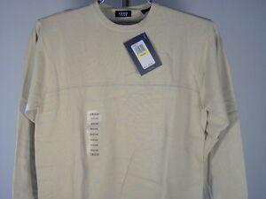 Izod Jeans Crewneck Sweater Light Beige M Mens New NWT