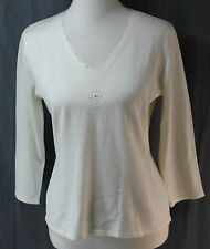 Requirements, Small, Vanilla V-neck Sweater, New with Tags