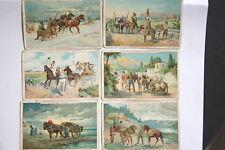 14765 Hartwig & Vogel Sammelbilder Serie VIII Fuhrwerke Gespanne Pferde 6 cards