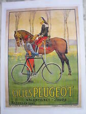 CYCLES PEUGEOT  affiche 50/70 ......Années 90