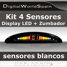 KIT 4 SENSORES DE APARCAMIENTO BLANCOS CON PANTALLA LED