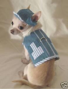 Dog Harness/Leash/Denim Stripe Harness Set/Dog Clothes/Chihuahua/Size s,m,l