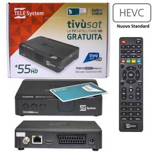 Tvsat Decoder HD Telesystem TS9018HEVC con tessera decoder ufficiale tivusat