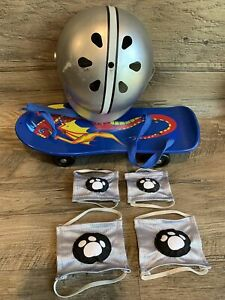 Build A Bear Accessories Dragon Flame Skate Board with Helmet & Knee/Elbow Pads