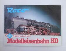 Catalogue Folding Toy Old Train Roco Ho Networks Locomotives Wagons 1980