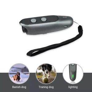 3 in 1 Anti Barking Stop Bark Dog Training LED Ultrasonic Dog Training Repell AJ