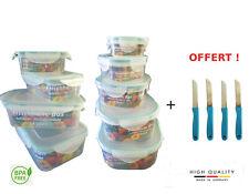 Boites Alimentaire Plastique Hermétique, Lot de 9, sans BPA + 4 couteaux offerts