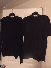 Lot of 2 Calvin Klein sweater & t-shirt black L&XL mint cond