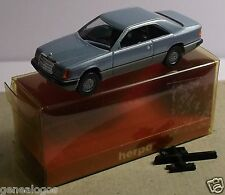 MICRO HERPA HO 1/87 MERCEDES 300 CE COUPE BLEU CLAIR METAL IN BOX