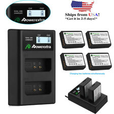 LP-E10 Battery Pack & Dual Charger For Canon Rebel T3 T6 T5 EOS 1100D 1200D Cam