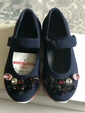 MARNI NAVY BLUE MARY JANE CRYSTALS SHOES SIZE 29 12 $500 BNIB