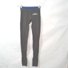 804d8fb227170d Stella McCartney Adidas Womens XS Gray Blue Trim Stirrups Compression  Leggings