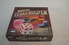 Yahtzee Texas Hold'em Poker Style Dice Game Hasbro 2004 Complete