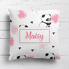 Personalised Cute Panda Bear Stylish Home Cushion Cover Pillow Case & Filling