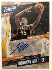Donovan Mitchell ROOKIE AUTO 2017-18 Panini Prestige Basketball RC Bonus Shots