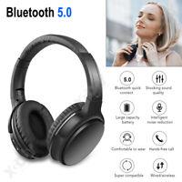 Casque sans fil Bluetooth 5.0 Ecouteurs over-ear super bass écouteur +microphone